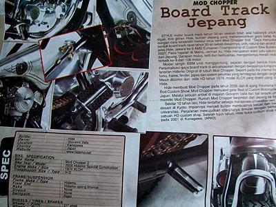 ジャカルタのバイク雑誌モントロク